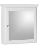 Simplicity by Strasser Ultraline 24 in. W x 27 in. H x 6-1/2 in. D Framed Surface-Mount Bathroom Medicine Cabinet in Satin White