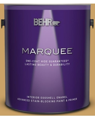 BEHR MARQUEE 1 gal. #PPU6-17 Classic Gold Eggshell Enamel Interior Paint and Primer in One