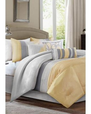 HipStyle Yellow Amherst 7-Piece Comforter Set - Green