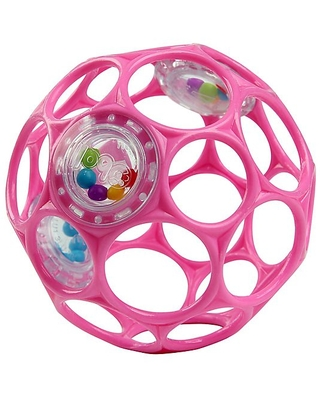 Bright Starts Oball Rattle Easy-Grasp Toy In Pink