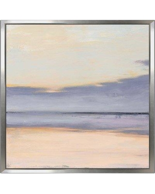 """Highland Dunes 'Shore II' Acrylic Painting Print on Canvas BI137612 Size: 18"""" H x 18"""" W x 1"""" D Format: Floater Frame"""