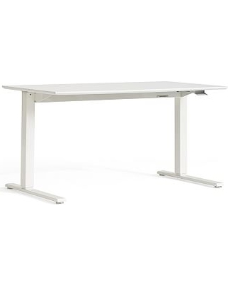 Humanscale Sit-Stand Desk, Small, White Base/White Top