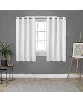 "63""x52"" London Thermal Textured Linen Grommet Top Blackout Window Curtain Panels White - Exclusive Home"
