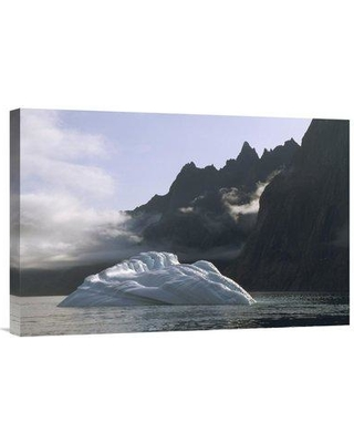 "East Urban Home 'Ice Floe in Southern Greenland Fjord Late Summer Greenland' Photographic Print EAUB5141 Size: 16"" H x 24"" W Format: Wrapped Canvas"