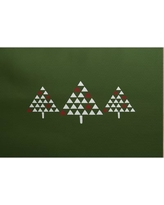 The Holiday Aisle Christmass Trees Green Indoor/Outdoor Area Rug THLA6869 Rug Size: Rectangle 2' x 3'
