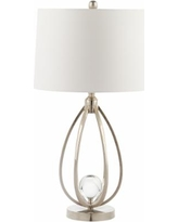 Lester Polished Nickel Metal Table Lamp