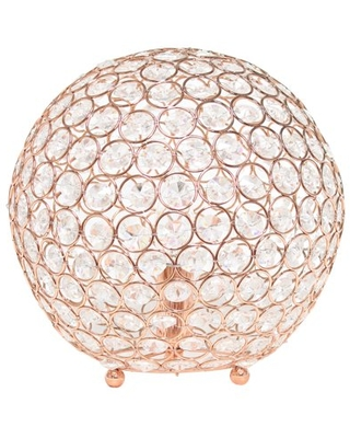 Elegant Designs Elipse 10 Inch Crystal Ball Sequin Table Lamp