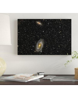 """East Urban Home 'Cigar Galaxy And Bode's Galaxy In The Constellation Ursa Major' By Reinhold Wittich Graphic Art Print on Wrapped Canvas EUME7341 Size: 26"""" H x 40"""" W x 0.75"""" D"""