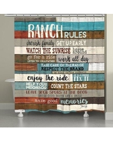 Millwood Pines Stallman Southwest Ranch Rules Shower Curtain BI027097