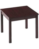 HON Occasional Tables Laminate Corner End Table 80192 Color: Mahogany