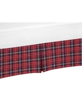 """Sweet Jojo Designs Rustic Patch 15"""" Bed Skirt CribSkirt-RusticPatch-PLAID"""