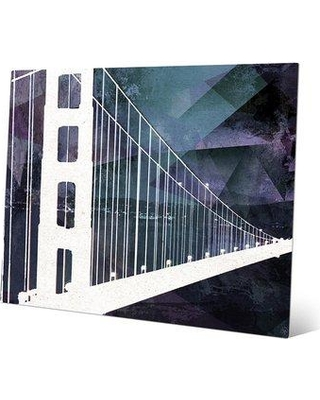 """Click Wall Art 'Beacon on the Bay' Graphic Art on Plaque ABS0000152MTL Size: 16"""" H x 20"""" W x 1"""" D"""