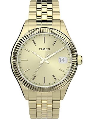 Timex Women's Waterbury Legacy 34mm Watch – Gold-Tone with Stainless Steel Bracelet
