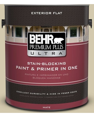 BEHR ULTRA 1 gal. #PPU9-12 Prairie House Flat Exterior Paint and Primer in One