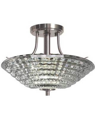 Springdale Lighting Wendy 1-Light Semi Flush Mount GH15487LED