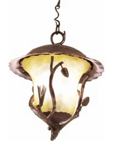 "Ponderosa Collection 19"" High Outdoor Hanging Light"