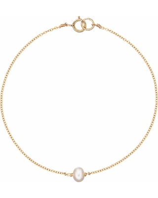 Lily & Roo - Gold Single Pearl Bracelet