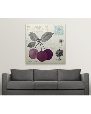 """Great Big Canvas 'Cherry Notes' Graphic Art Print 1166443_1 Size: 48"""" H x 48"""" W x 1.5"""" D Format: Canvas"""