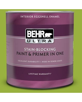 BEHR ULTRA 1 Qt. #410B-7 Bamboo Leaf Eggshell Enamel Interior Paint and Primer in One