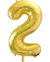 Light Gold Foil Balloon Number 2 - Spritz
