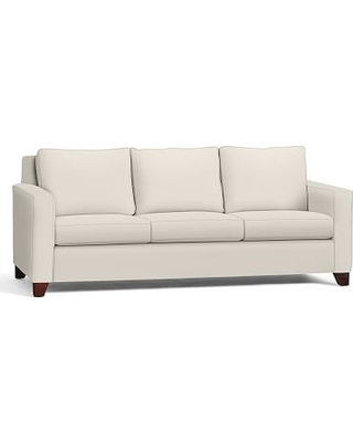Cameron Square Upholstered Grand Sofa, Polyester Wrapped Cushions, Performance Twill Cream