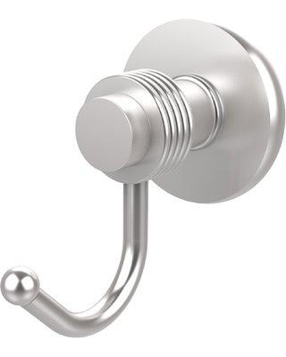 Allied Brass Mercury Wall Mounted Utility Hook with Groovy Detail 920G Finish: Satin Chrome