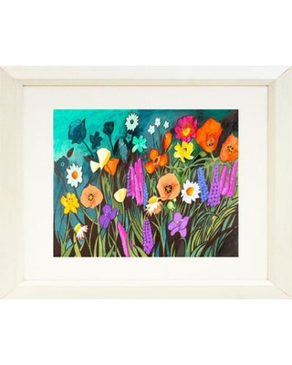 Buy Art For Less 'Melody of Colors II Poster' by Elizabeth Stack Framed Painting Print IF ES034 20x16 White 1.5 SM