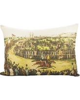 TheWatsonShop Horse Race Cotton Lumbar Pillow LUM_DFVRACETRACK