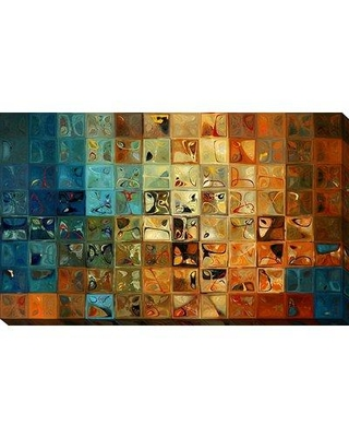 """Picture Perfect International 'Modern Tile Art #11 2009' Graphic Art Print on Canvas 704-0566 Size: 28"""" H x 48"""" W Format: Wrapped Canvas"""
