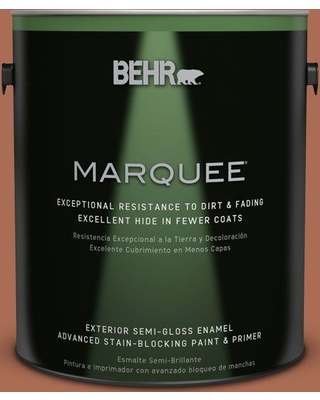 BEHR MARQUEE 1 gal. #BIC-45 Airbrushed Copper Semi-Gloss Enamel Exterior Paint and Primer in One