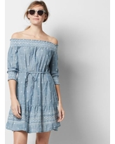 Women's SONOMA Goods for Life™ Off-the-Shoulder Chambray Shift Dress, Size: XL, Med Blue