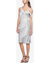 Fame and Partners Draped Off-The-Shoulder Dress - Gray 2