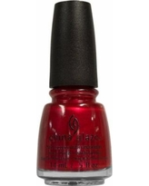 China Glaze Red Pearl Nail Lacquer with Hardeners, 0.5 fl oz