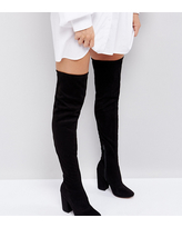 ASOS KATCHER Heeled Over The Knee Boots - Black