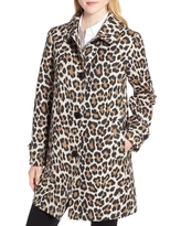 Women's Kate Spade New York Leopard Print Water Repellent Coat, Size X-Large - Brown