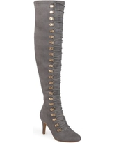 Women's Wide Calf Vintage Almond Toe Over-the-knee Boots