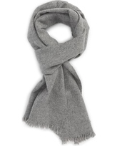 Men's Nordstrom Men's Shop Solid Cashmere Scarf, Size One Size - Grey