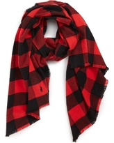 Men's Polo Ralph Lauren Buffalo Check Scarf, Size One Size - Red