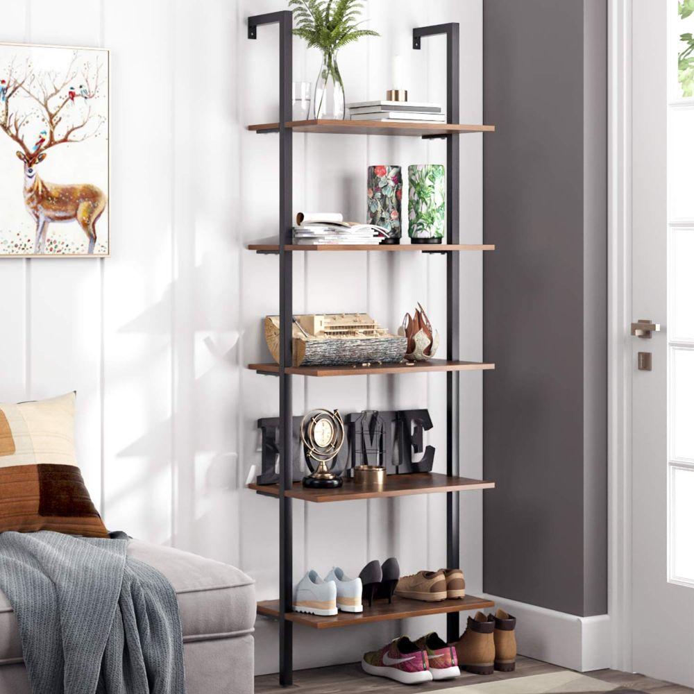 Industrial Ladder Wall Shelf