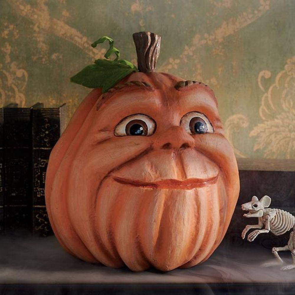 Expressive Decorative Pumpkin