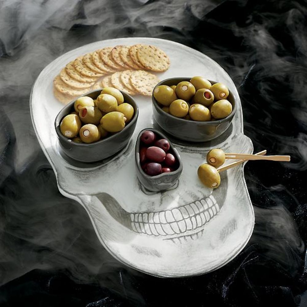 Skull Platter with Bowls