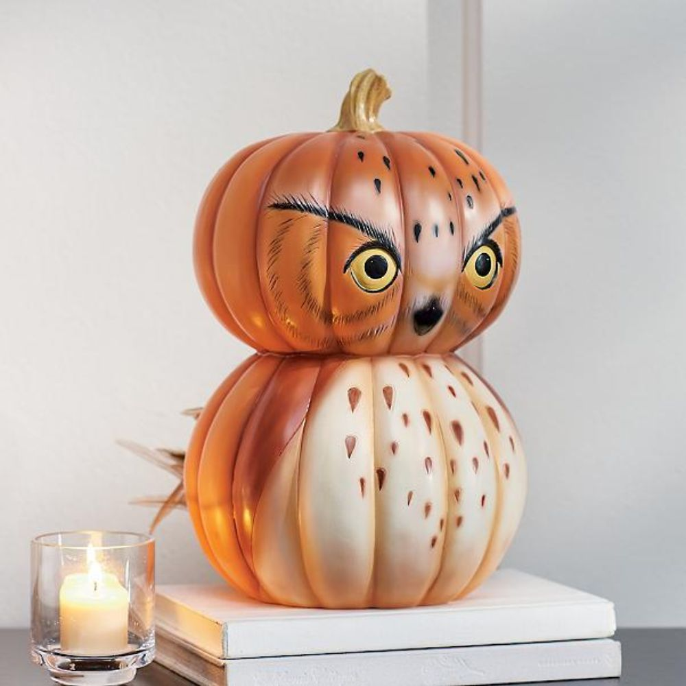 Decorative Pumpkin Owl