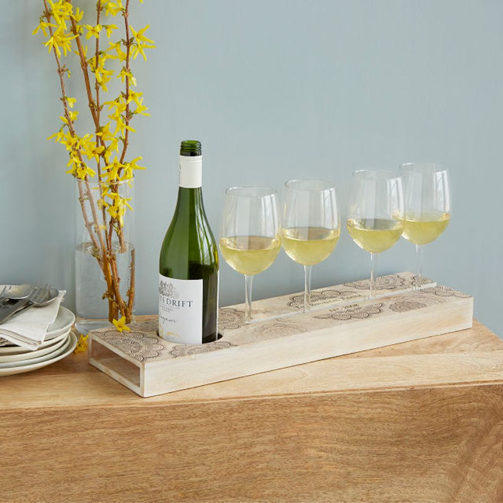 Personalized Wine Serving Tray