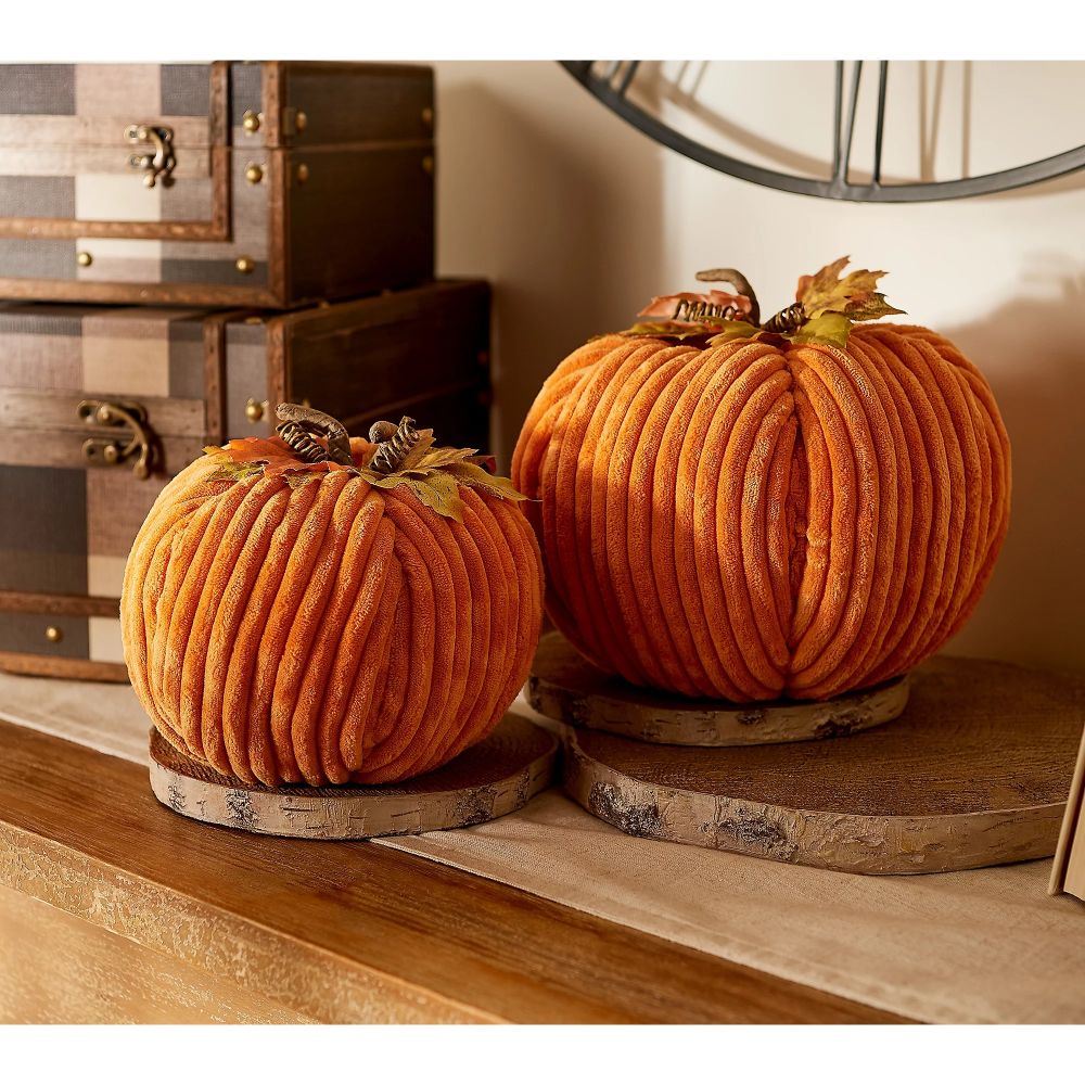 Decorative Pumpkins with Leaves