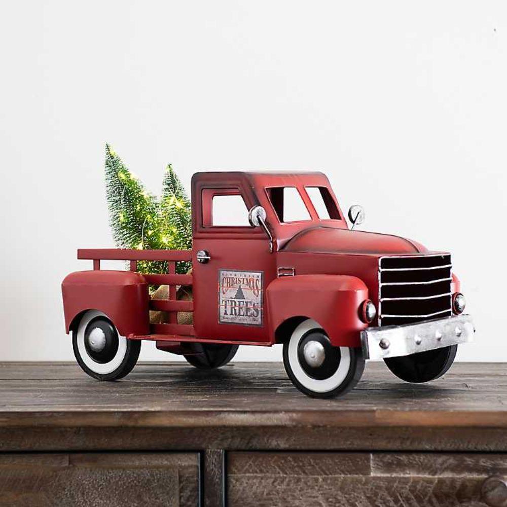 Pre-Lit Vintage Truck