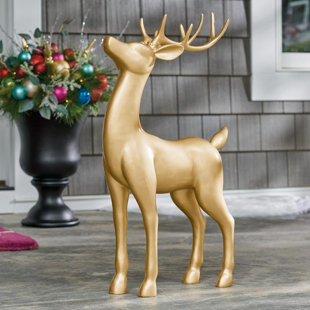 Gold Standing Deer