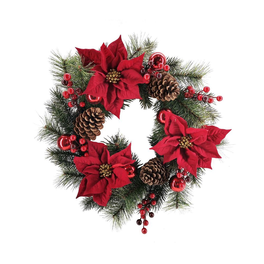Martha Stewart Poinsettia Wreath
