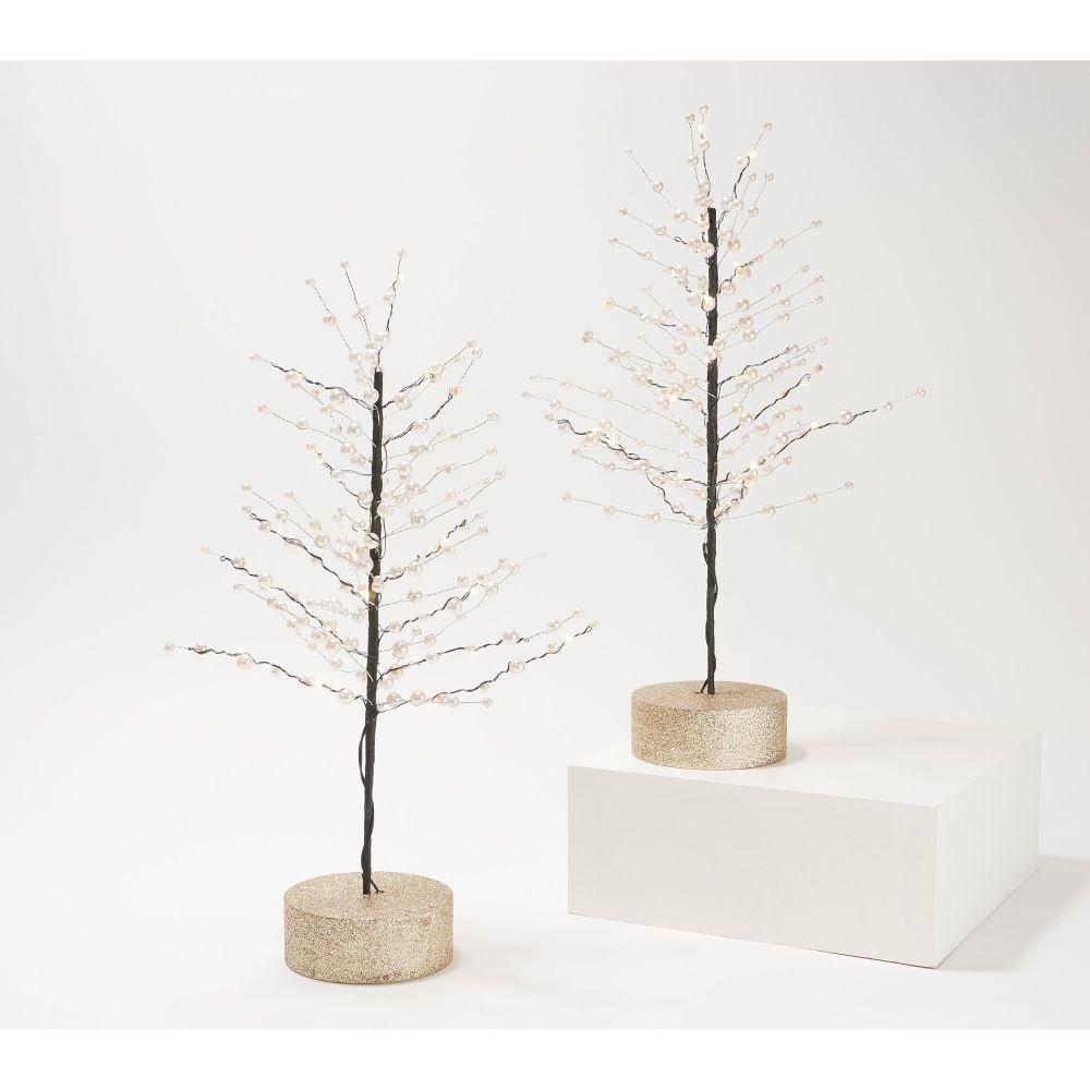 Martha Stewart Lit Pearl Trees
