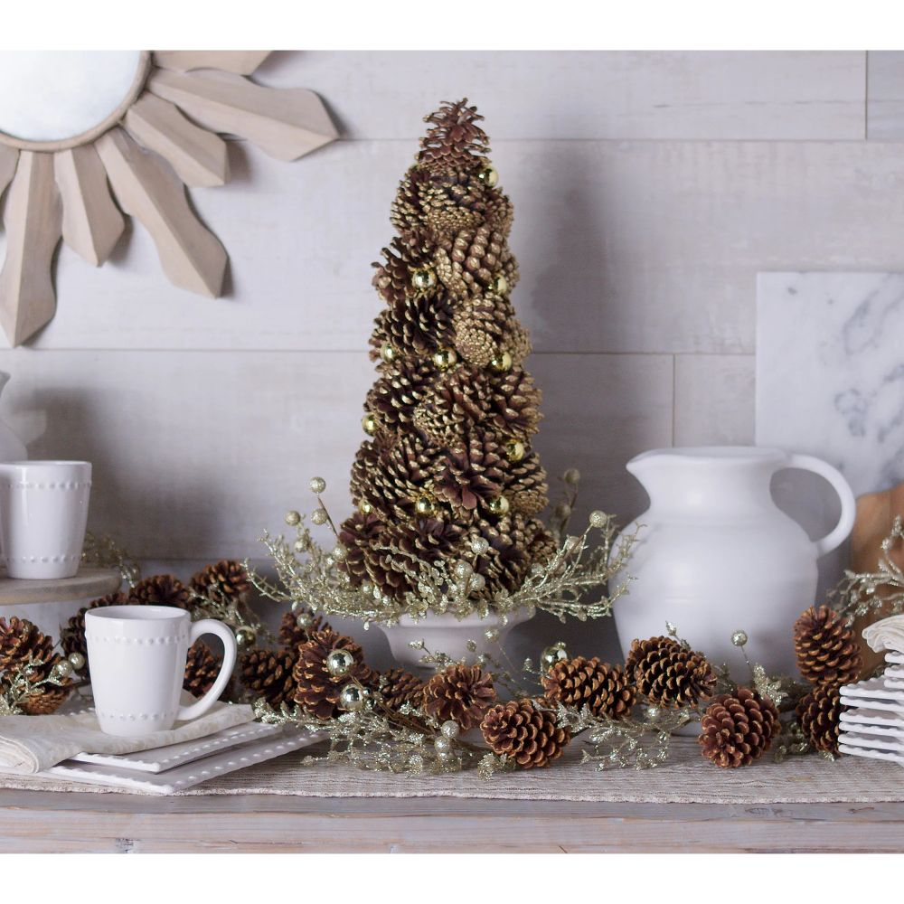 Martha Stewart Potted Pinecone Tree