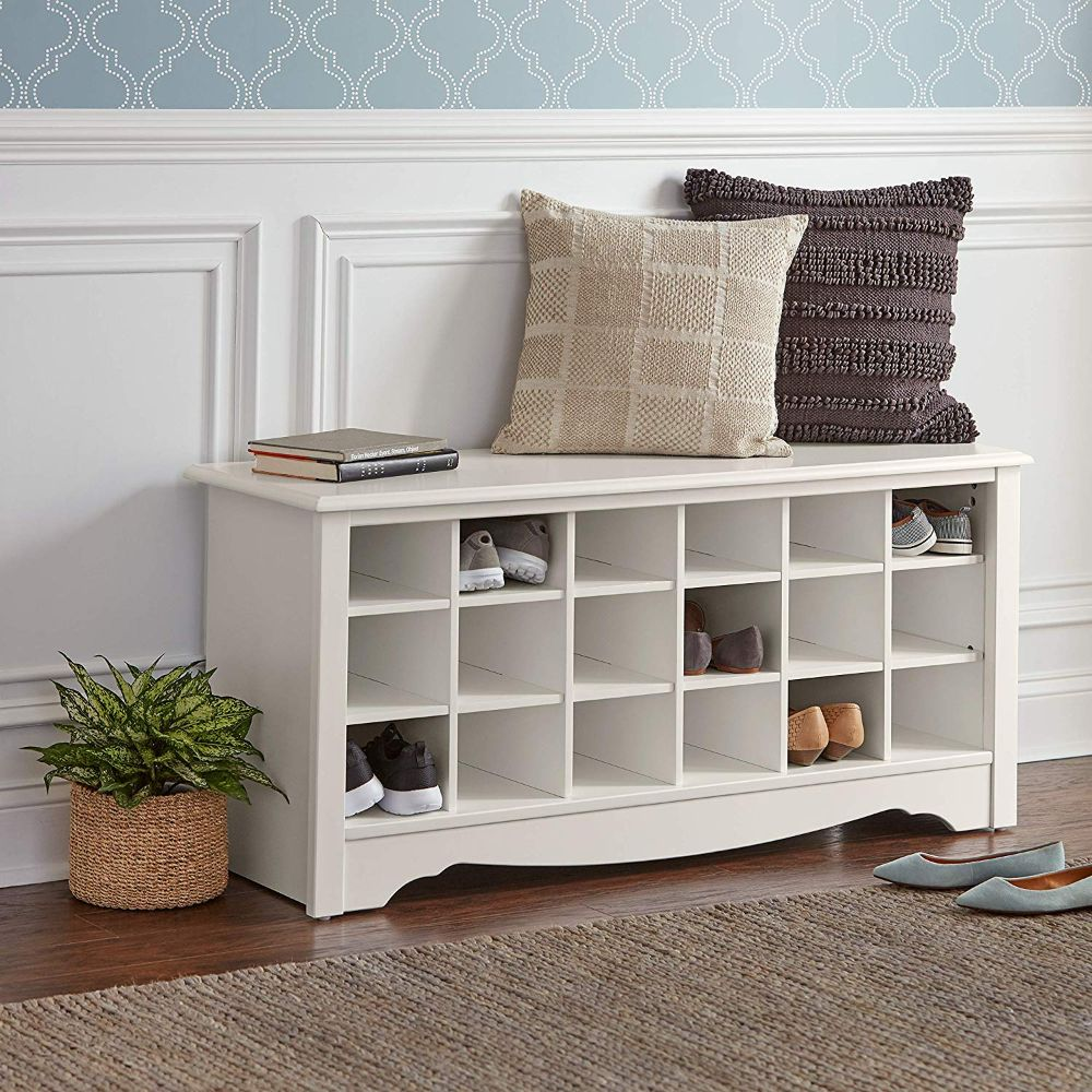 Shoe Storage Cubby Bench